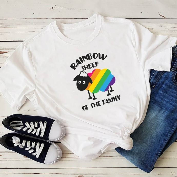 Rainbow Sheep Of The Family Svg, Sheep Svg, Lgbt month svg, I am gay svg, Lgbt