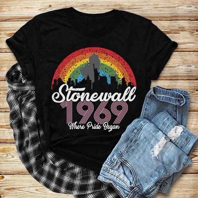 Stonewall 1969 Where Pride Began Svg, Stonewall Svg, Rainbow Svg, Lgbt month