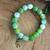 10MM lime green Agate bracelet
