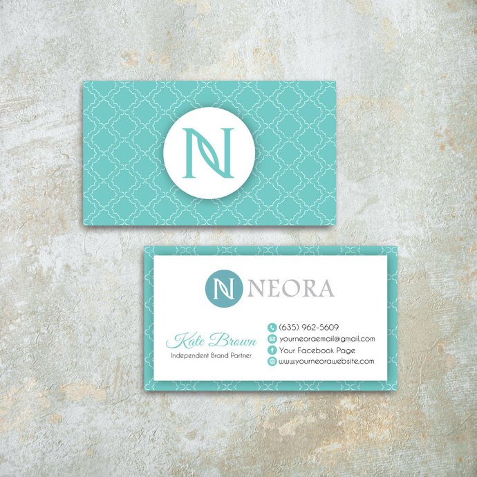 Printable Neora Business Cards, Personalized Neora Template NE18