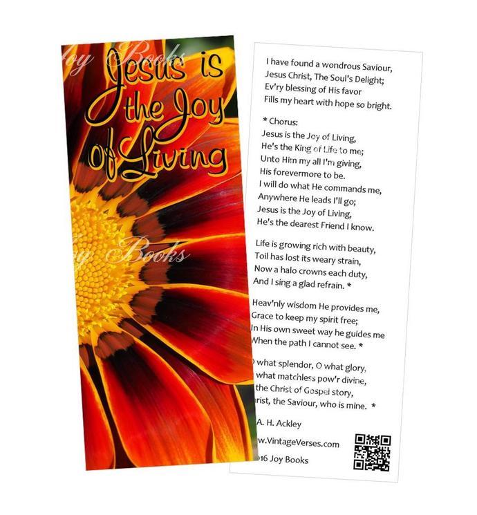 JOYFUL SALVATION - 4 Vintage Verses Hymn Bookmarks DIY Print It Yourself Digital