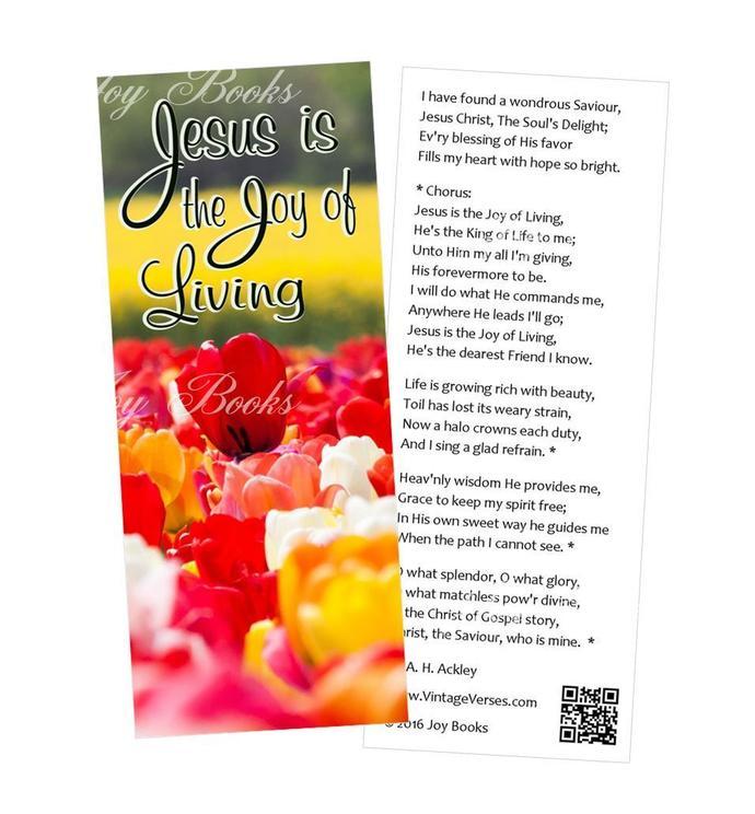 JOYFUL SONGS 4 Vintage Verses Hymn Bookmarks DIY Print It Yourself Digital