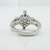 Natural Diamond Ring 18K White Gold 1.40 TDW Engagement