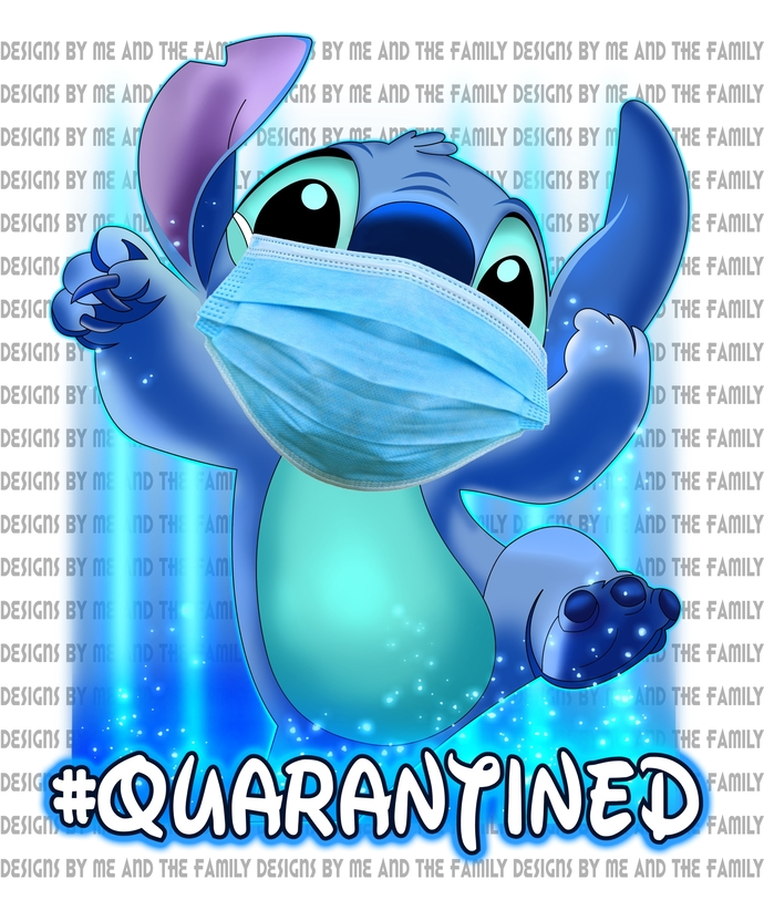 Stitch Quarantined hospital mask, we are all quarantined here, #quarantined,