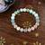 Amazonite, Peach Moonstone & grey Quartz bracelet