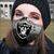 Oakland Raiders filter activated carbon face mask