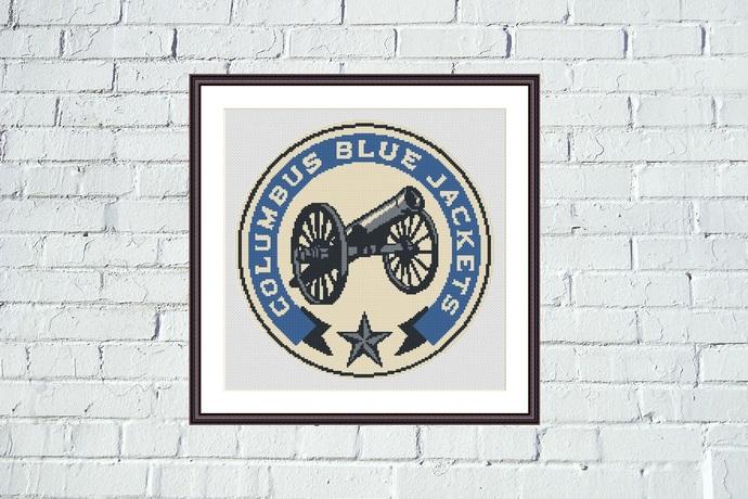 Columbus Blue Jackets easy cross stitch pattern