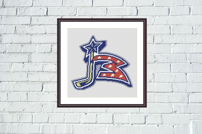 Columbus Blue Jackets easy embroidery design