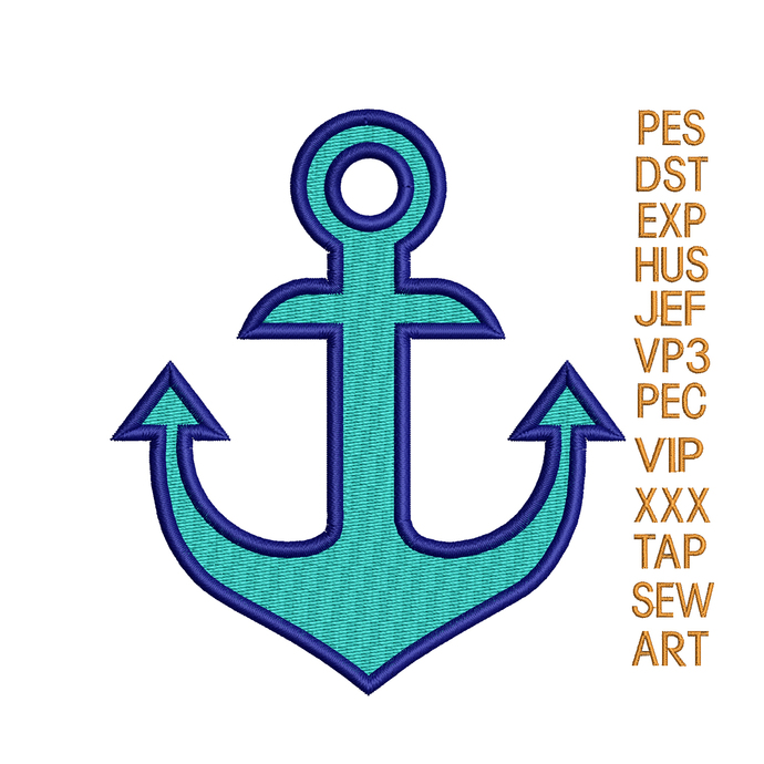 anchor embroidery design,Anchor embroidery pattern,marine embroidery, embroidery