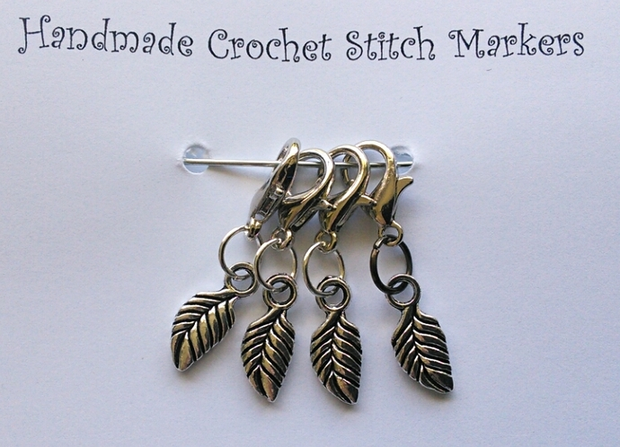 Crochet Stitch Markers - Feathers - Set of 4