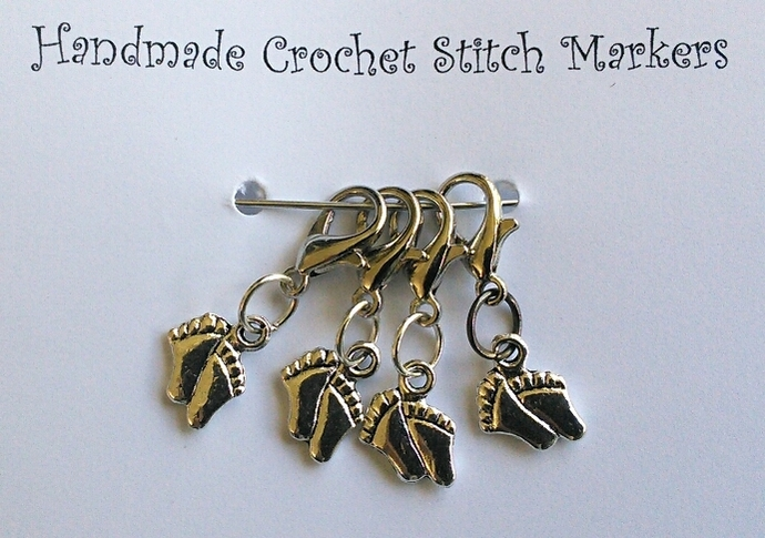 Crochet Stitch Markers - Feet - Set of 4