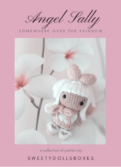 """ANGEL SALLY from """"SWEETYDOLLBOXES"""" collection / doll crochet pattern (Amigurumi"""