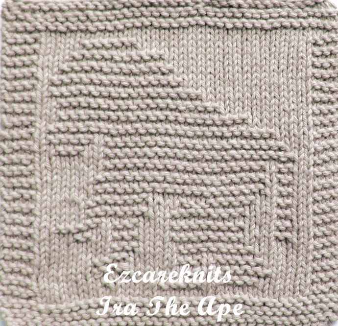 IRA THE APE  - Face Cloth, Spa Cloth, Blanket Square, handicraft, Knit, Quick