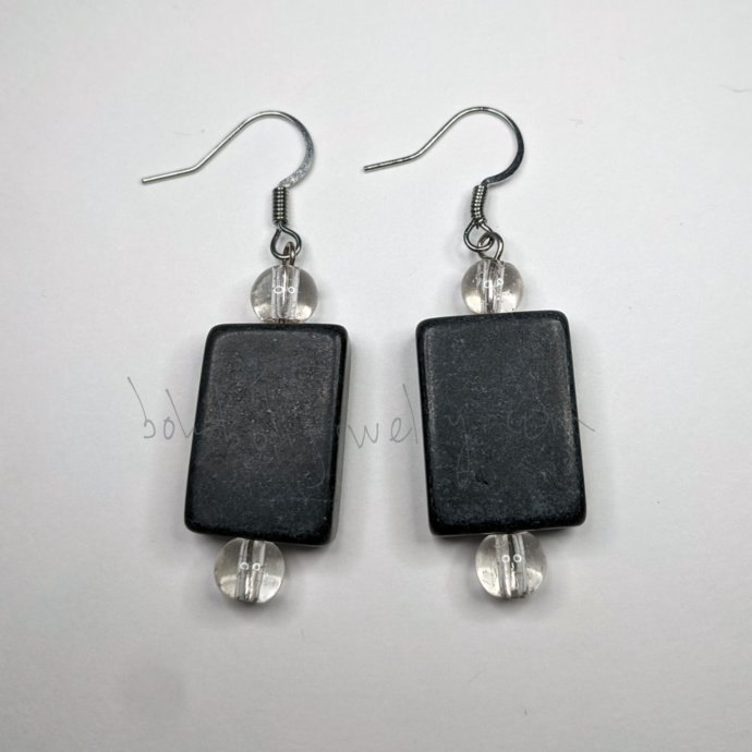 Gray Stick Earrings
