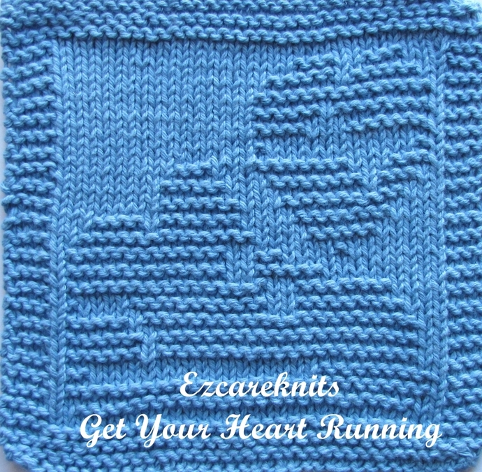 Get Your Heart Running - Face Cloth, Spa Cloth, Blanket Square, handicraft,
