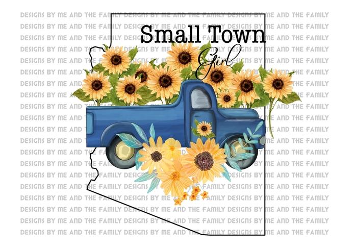 Arizona, Small town girl, vintage truck, Sunflowers, Peace love sunflowers,