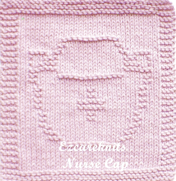 NURSE CAP - Face Cloth, Spa Cloth, Blanket Square, handicraft, Knit, Quick Knit,
