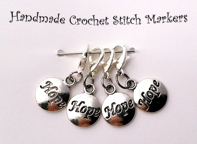Crochet Stitch Markers - Hope - Set of 4