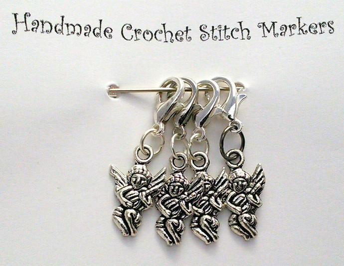 Crochet Stitch Markers - Cherubs - Set of 4