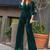 green velvet jumpsuit for women simple vintage elegant pant suit for weddings