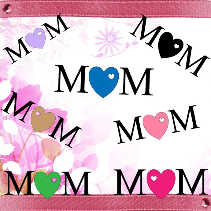 MoM 2aDigital ClipArt-Art Clip-Gift Tag-Tshirt-Mothers