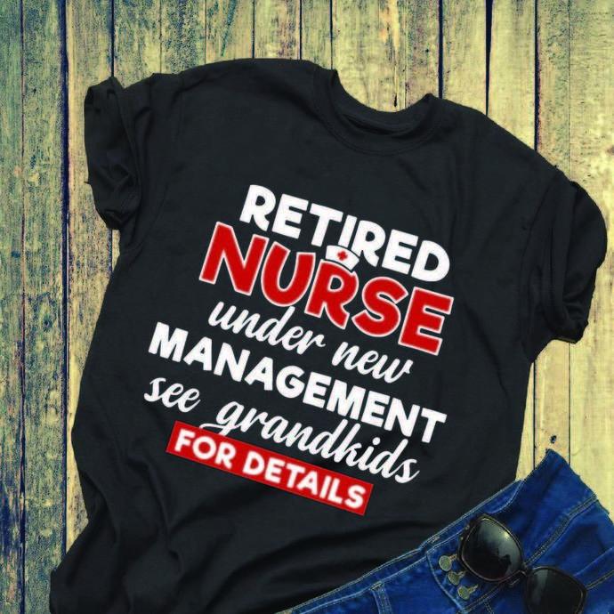Retired Nurse Under New Management See Grandkids For Detail svg, nurse svg,