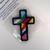 Rainbow Christian Cross Ornament