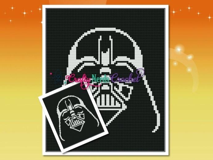 Vader Helmet Pattern Graph With C2C Written