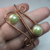 Handformed Copper Slip-On Cuff with Glass Beads