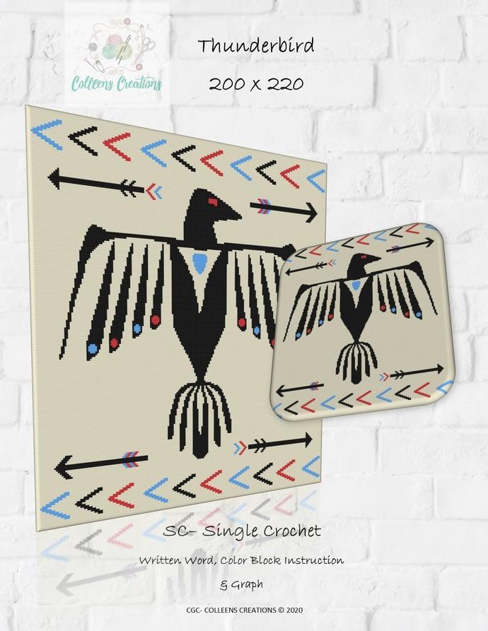 Thunderbird Crochet Written and Graph Design