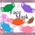 Color Face Mask AA-Digital ClipArt-Art Clip-Gift