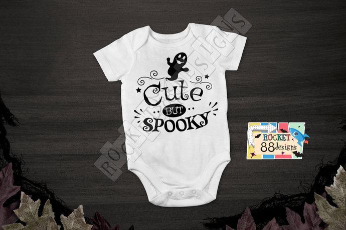 Cute But Spooky One Piece Bodysuit romper Halloween Ghost Girl Boy Unisex Baby
