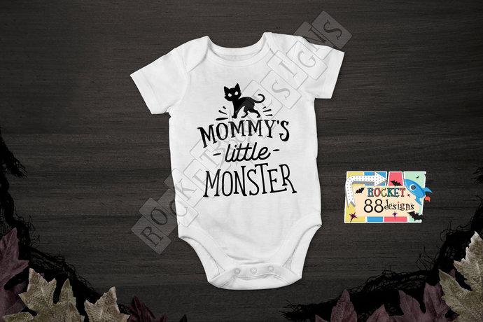 Mommy's Little Monster One Piece Bodysuit romper Halloween Costume Monster