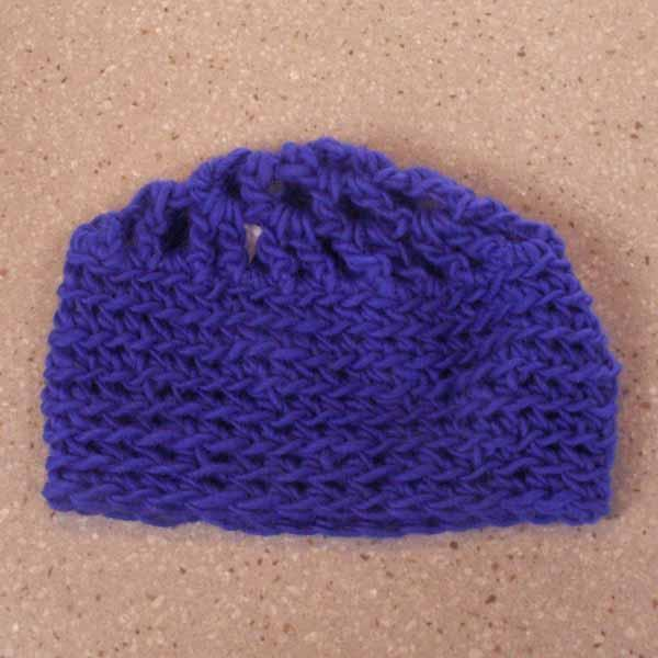 Blue Crocheted Beanie