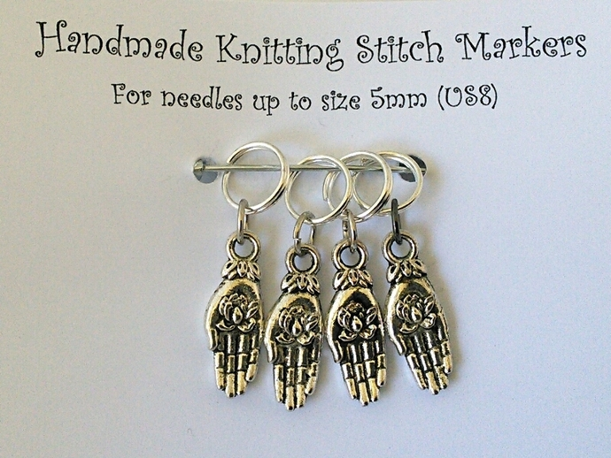 Knitting Stitch Markers - Hands - Set of 4