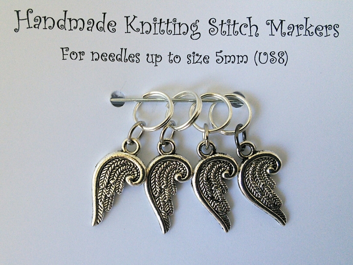 Knitting Stitch Markers - Angel Wings - Set of 4