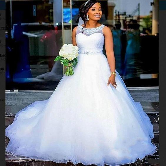 simple wedding dresses boho beaded neck a line elegant 2021 white wedding gowns