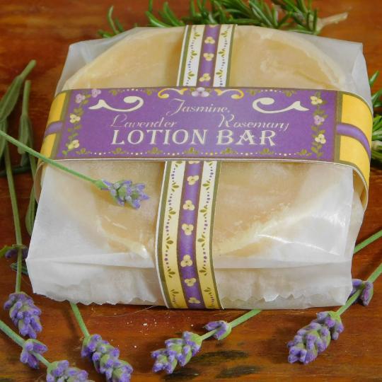 Lotion Bar | Jasmine, Lavender and Rosemary | 3 oz | Cocoa Butter | Organic Hemp
