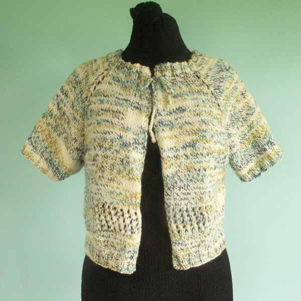 Short Sleeve Cardigan Sweater - Size Large