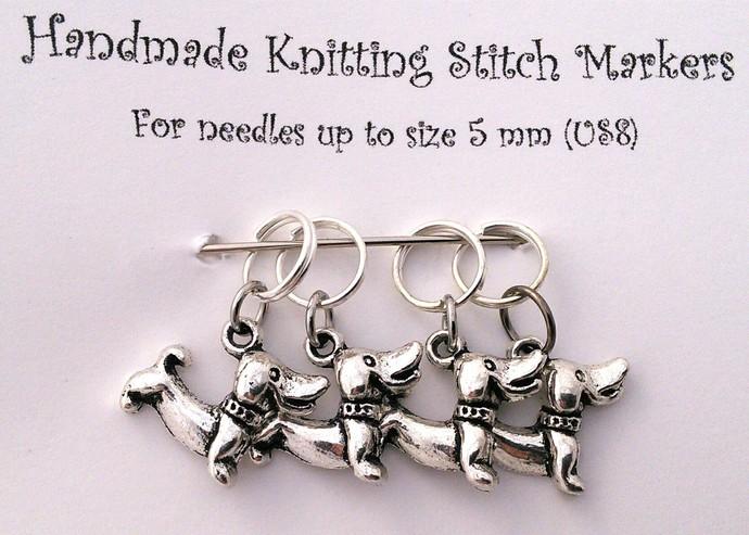 Knitting Stitch Markers - Dogs - Set of 4