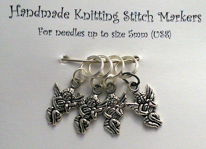 Knitting Stitch Markers - Cherubs - Set of 4