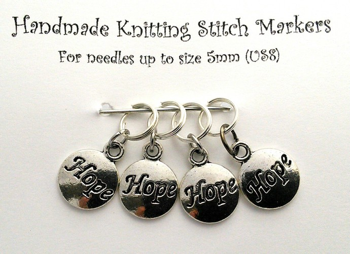 Knitting Stitch Markers - Hope - Set of 4