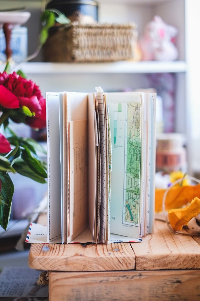 London Gifties x Catia TN size junk journal - vintage paper II