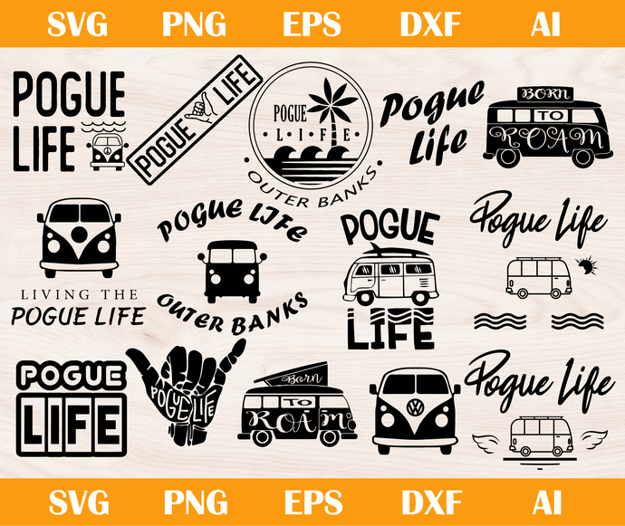 Pogue life SVG, PNG, EPS, AI, DXF, Outer Banks SVG, PNG, EPS, AI, DXF, Outer