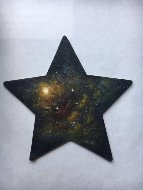 Nebula on a star-shaped magnet 2019-12