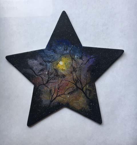 Nebula on a star-shaped magnet 2020-1