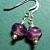 Handmade Purple Lampwork Bead Earrings on Sterling