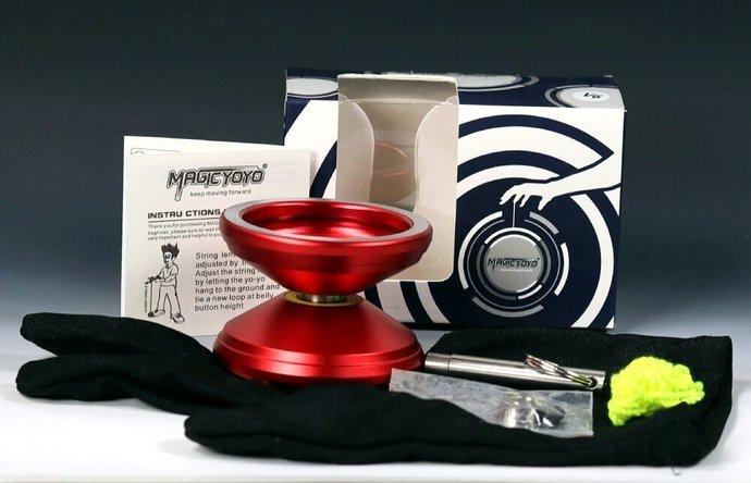 Red Aluminum Bearing Axle Yo-Yo with Mods by YoYoSpin