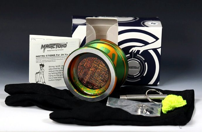Multi-Color Aluminum Bearing Axle Yo-Yo with Mods by YoYoSpin