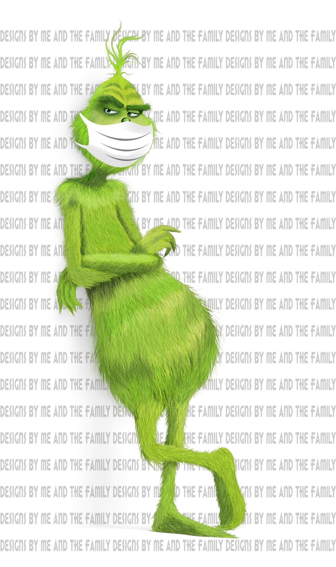 Grinch  standing with hospital mask, we are all quarantined here, #quarantined,